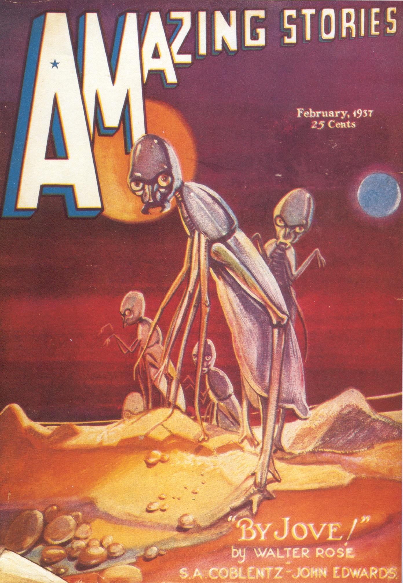Alien insects appeared in sf pulps, like this 1937 vintage example.