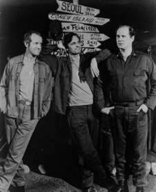 Mike Farrell and fellow M*A*S*H stars.  All Rights Reserved.